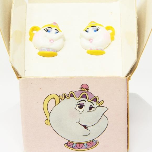 Disney Other - Mrs. Potts Earrings for pierced ears